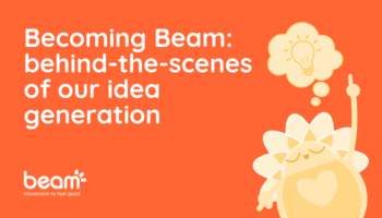 Becoming Beam: behind-the-scenes of our idea generation. Character with thought bubble